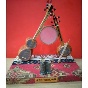 """Национальный азербайджанский сувенир """"Тар, каманча и гавал"""""""